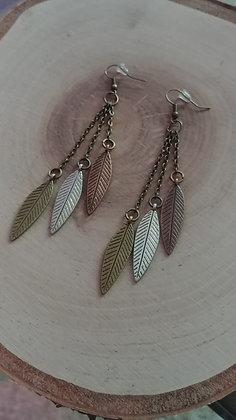 Boho Feather Dangles
