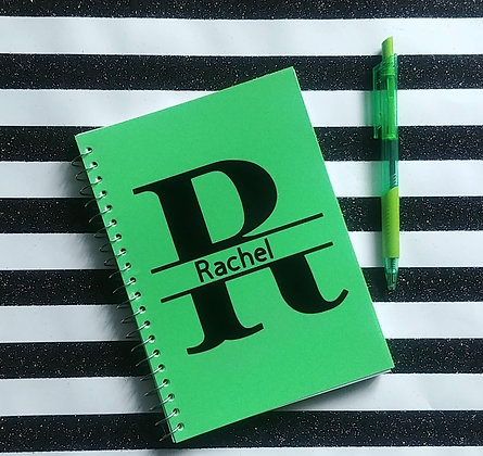 Personalized Notebook (Green)