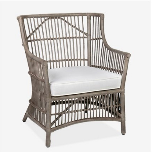 Rattan Occasional Chair-Vintage Grey