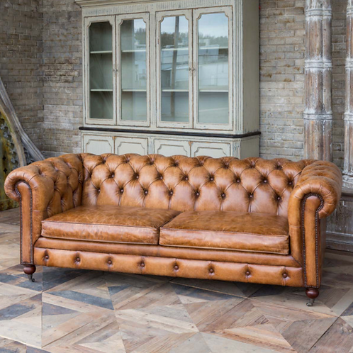 Leather Library Sofa