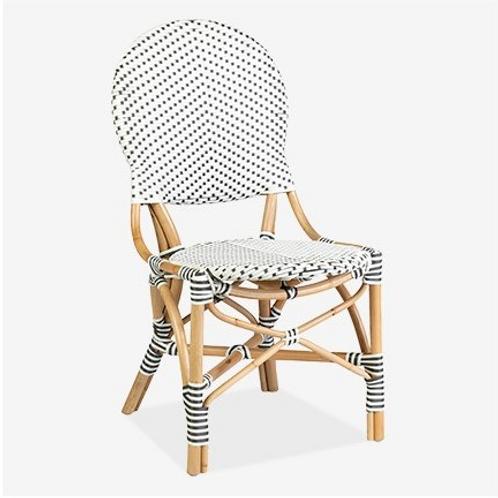 Indoor/Outdoor White & Grey Chair