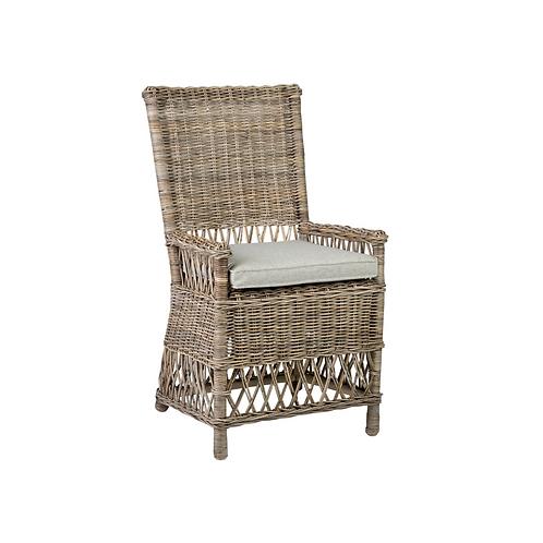 Natural Grey Rattan Dining Chair