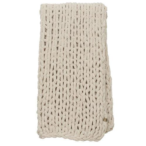 Chunky Knit Blanket-Oat