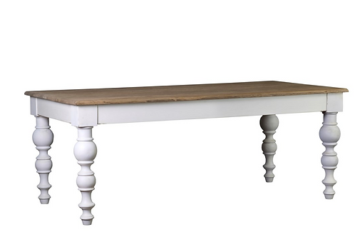 Solid Wood Dining Table With Turned Legs