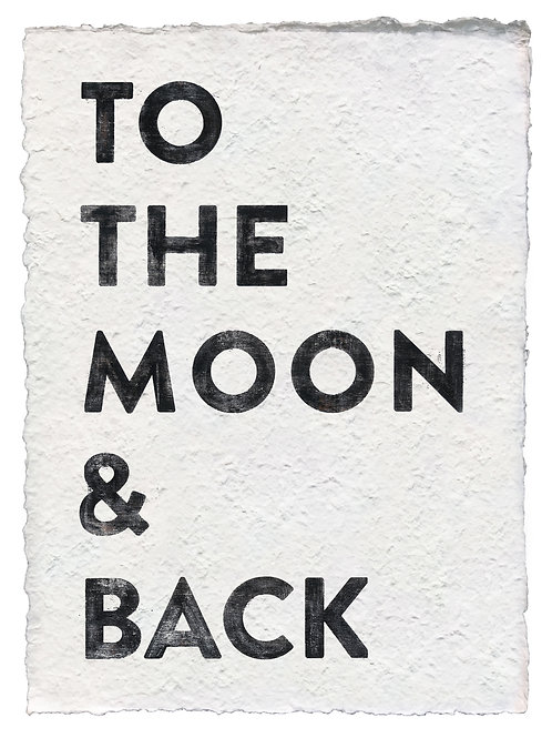 "MOON & BACK HANDMADE PAPER PRINT - 12""X16"""