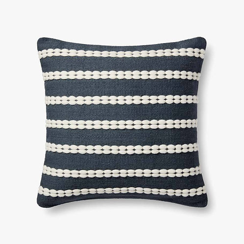 """Magnolia Home, Charcoal & Ivory, 22"""" Down Filled Pillow"""