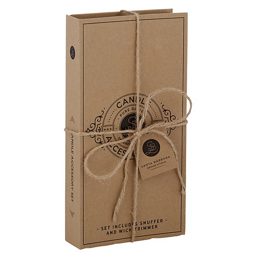Cardboard Book Candle Set