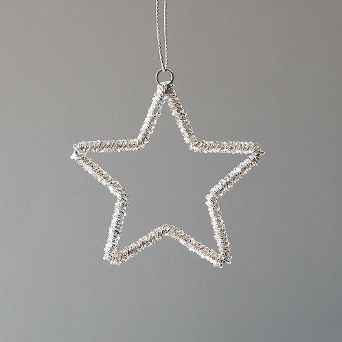 Beaded Glass Star Ornament