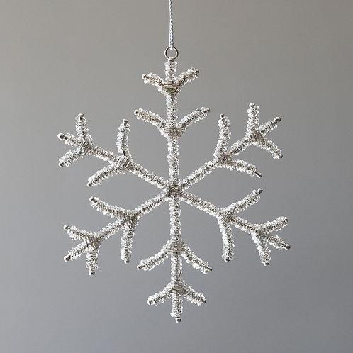 Large Beaded Glass Snowflake