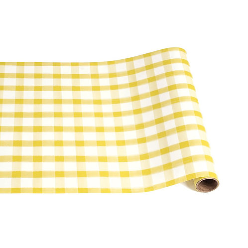 Yellow Painted Check Paper Runner