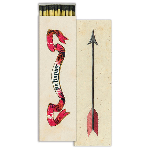 MATCHES - BE HAPPY & ARROW - RED