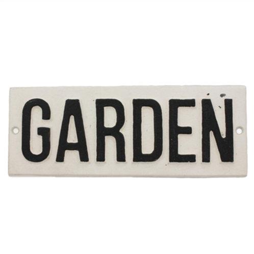 Cast Iron Sign-Garden