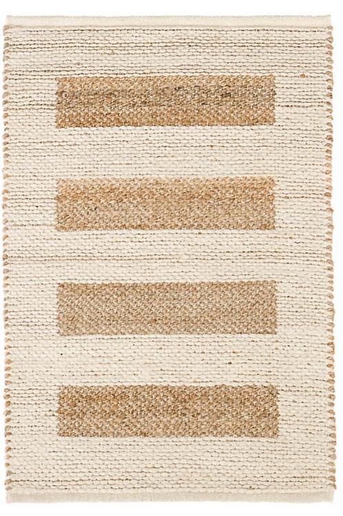 Ivory Woven Jute/Cotton Rug