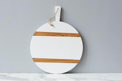 White Round Mod Charcuterie Board