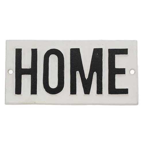 Cast Iron-Home Sign