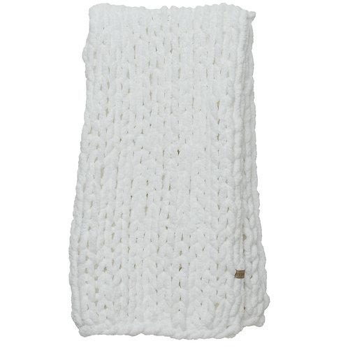Chunky Knit Blanket-White