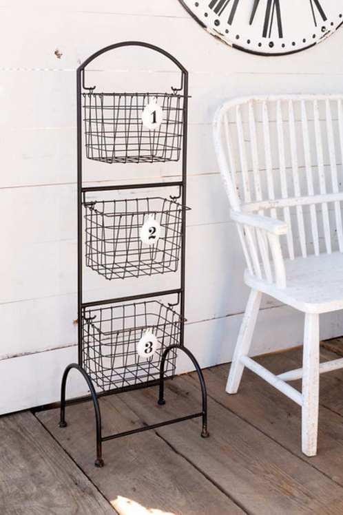 Freestanding Numbered Baskets