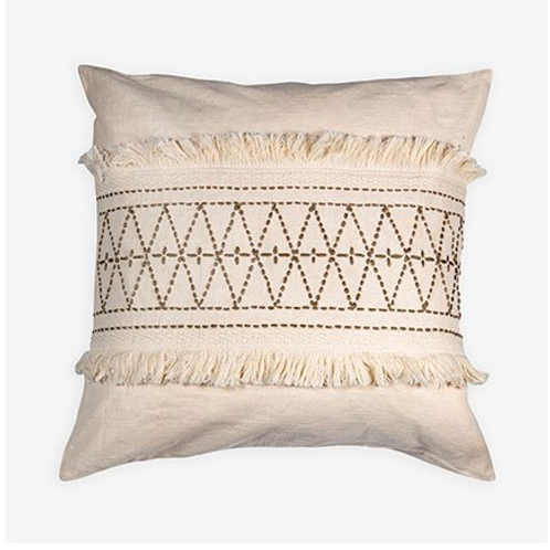 """Embroidered 22"""" Pillow"""