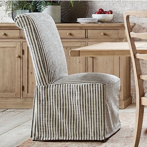 PB Comfort Roll Slipcovered Dining Chair