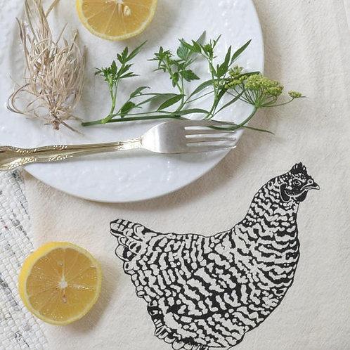 Set of 4 Organic Chicken Cloth Napkins
