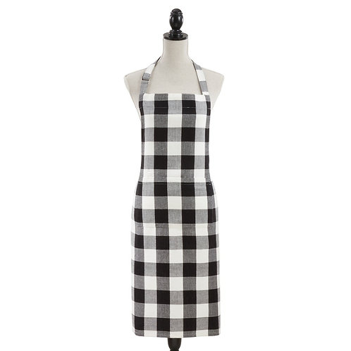 Black and White Buffalo Check Apron