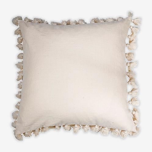 Tassel Pillow, Oatmeal