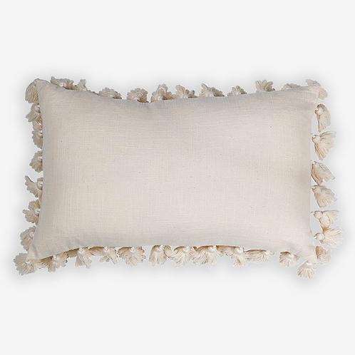 Tassel Lumbar Pillow-Oatmeal
