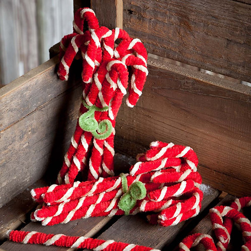 Vintage-Style Chenille Candy Canes