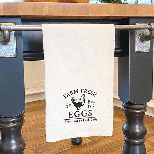 Farm Fresh Eggs - Cotton Tea Towel