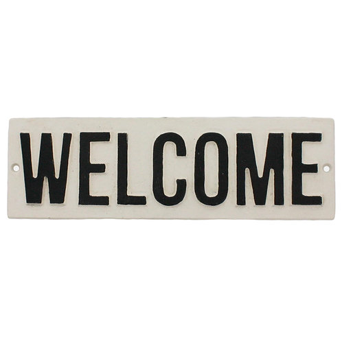 Cast Iron-Welcome Sign