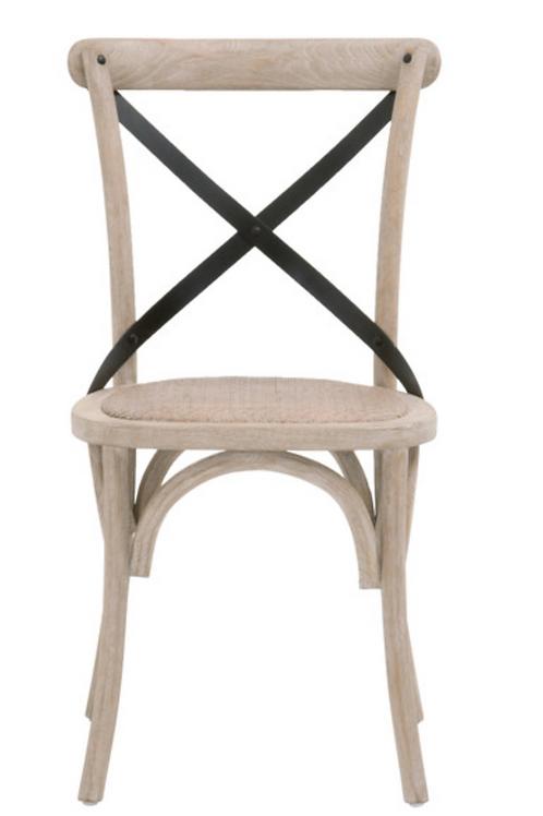 Natural Gray Oak Cross Back Chair