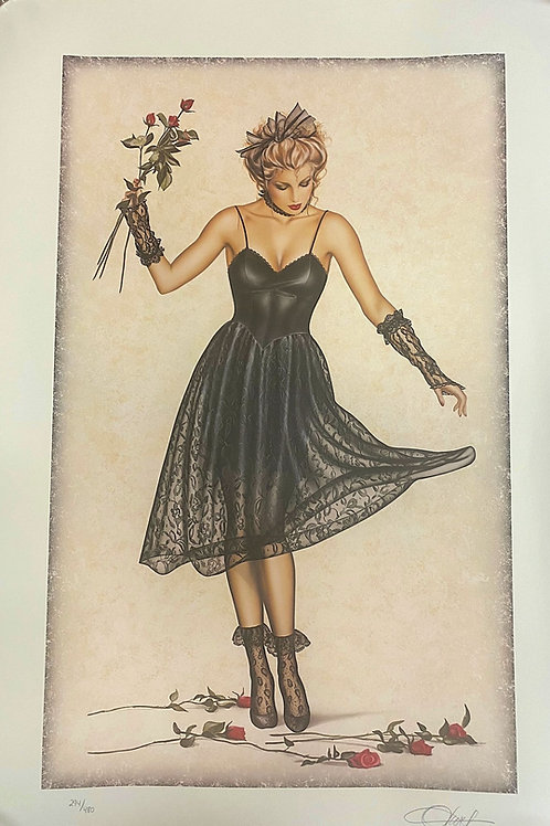 Uptown Girl Lithograph