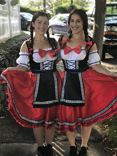 Silver Tie Servers Waitresses German Costumes