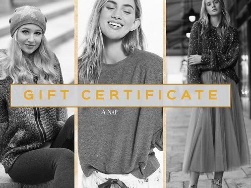 $250 Smitten Gift Certificate