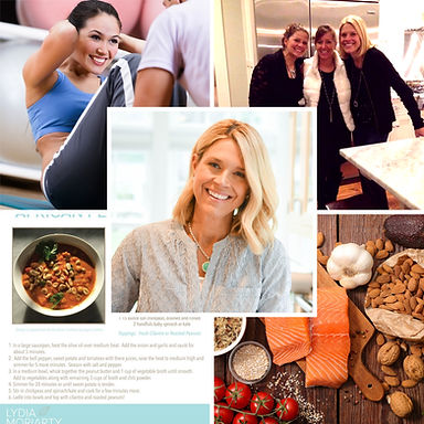 Lydia Morariarty Health Coach Collage Contact