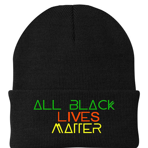 ALL BLACK LIVES MATTER | The Beanie (Color on Black)