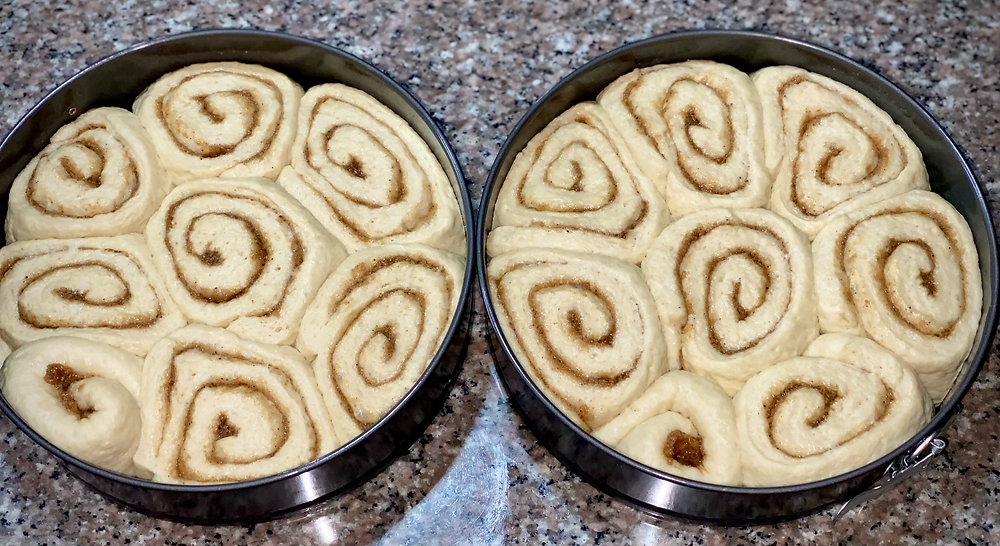 Before the rolls saw the inside of an oven, having proofed to their hearts content.