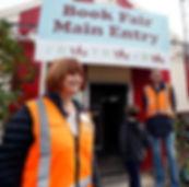 Rob Edmonds & Karen Stade on entry door