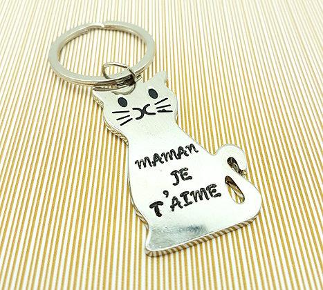 """Porte-clef """"Maman je t'aime"""""""