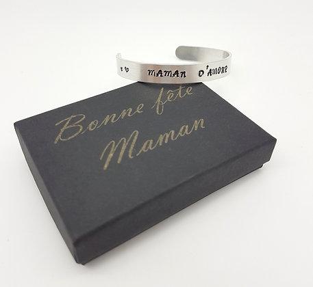 Bracelet personnalisable + boîte cadeau
