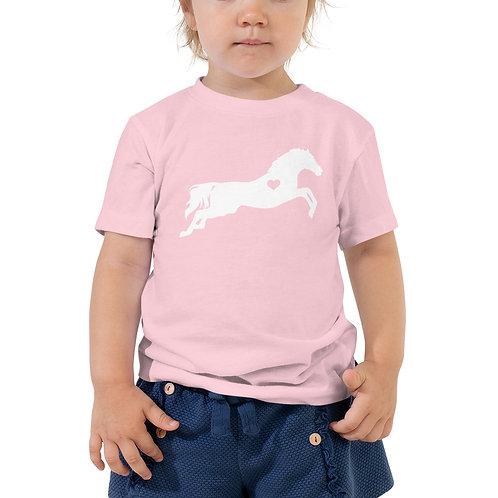 Heart Horse Toddler Short Sleeve Tee
