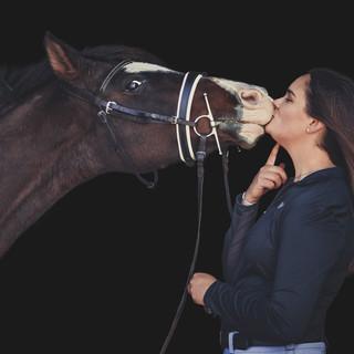 Black Background Horse Portrait
