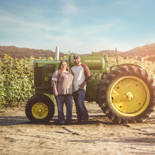 John Deere Tractor Couple sunflower Photoshoot