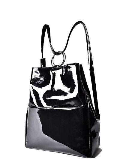 PREGES Original PVC Black Handbag