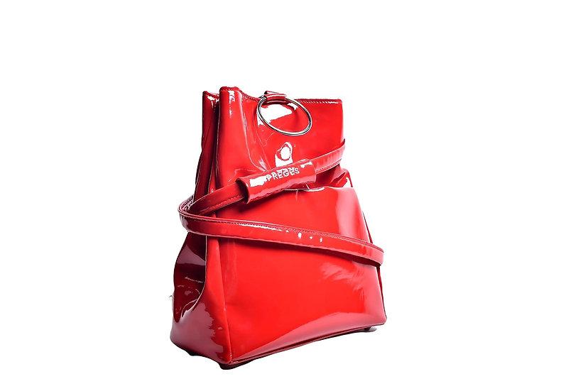PREGES Original Red PVC Handbag