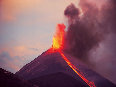 Pacaya Volcano erupting