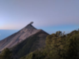 Fuego Volcano from Acatenango's camp site