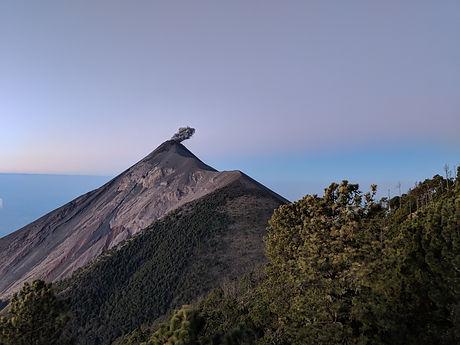 Fuego Volcano from Acatenango's camp site