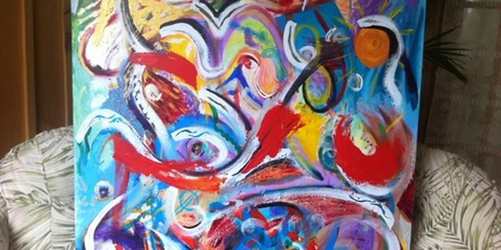 Initiation à la peinture abstraite avec Louise Doyon
