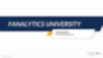 Fanalytics University Class 2: The Framework